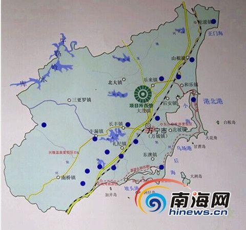 项目所在位置图。万宁市供图