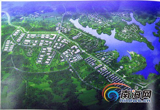 万宁槟榔城设计概念鸟瞰图。万宁市供图